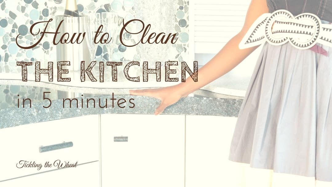 How to Clean Your Kitchen in 5 Minutes