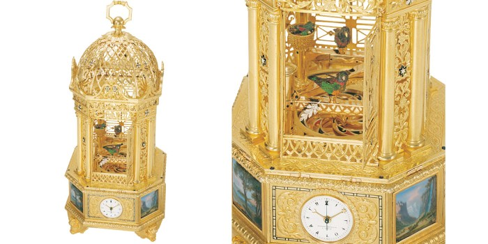 Alpine Landscapes Singing Bird Cage (c 1830)