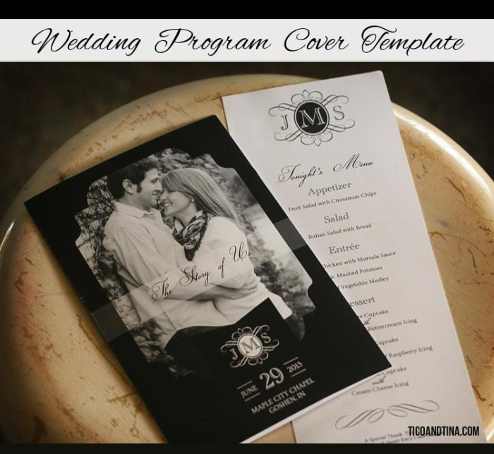 wedding-program-cover-template