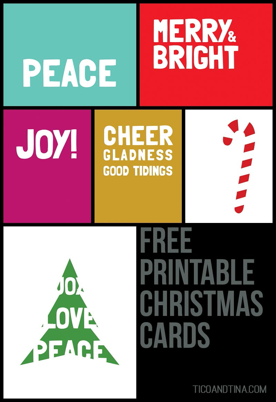 Free Printable Christmas Cards Tico Tina