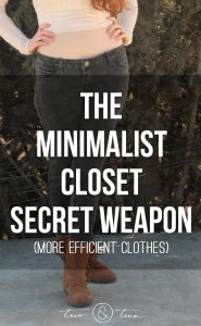 The Minimalist Closet Secret Weapon - more efficient clothes - 7 outfits with 1 pair of reversible pants
