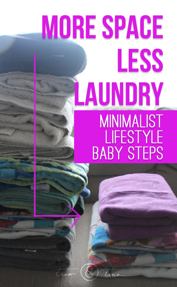 Transitioning a family toward a more minimalist living is all about baby steps. We recently made a change to more efficient towels to make more space and less laundry!