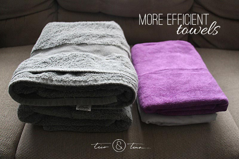 Even things as mundane as towels can be simplified and more efficient. This is a change we made recently to our towel situation to work towards a more minimalist lifestyle. We now have more space and less laundry minimalist living rocks!
