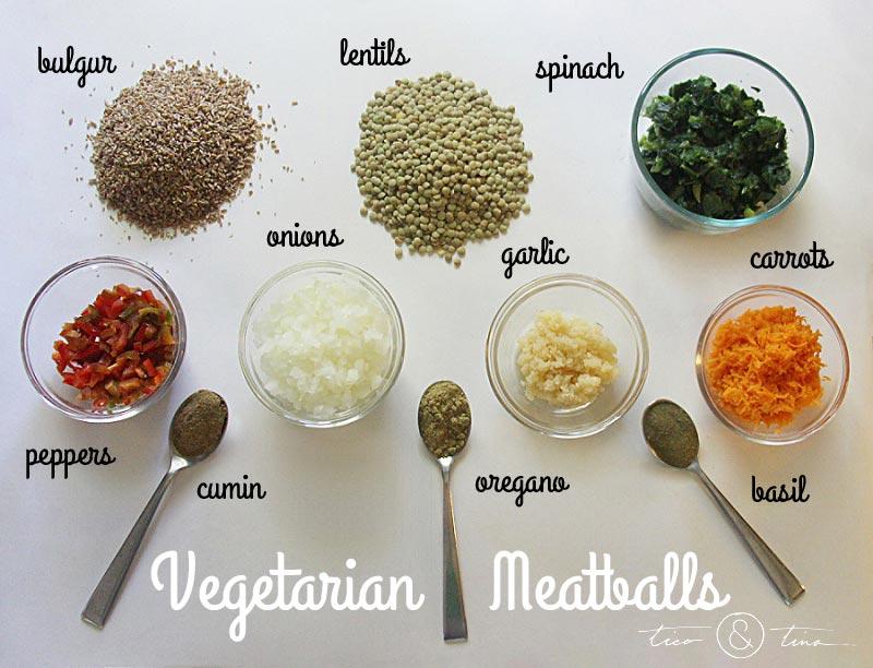 Make delicious Vegetarian Meatballls with this VERY inexpensive bulgur/lentil mix vegan meat substitute (no eggs!). | healthy recipe | fall recipe | freezer meal idea vegan meat substitutes