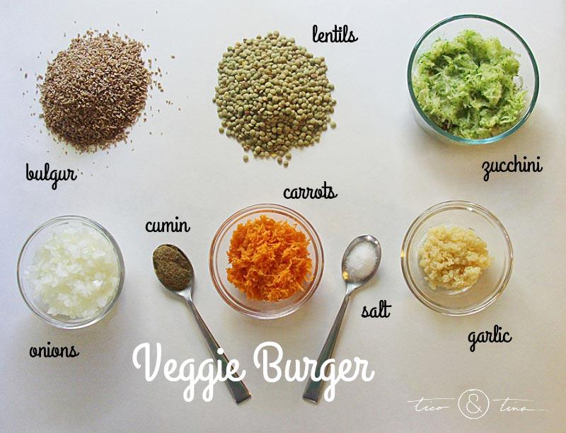 Make delicious Veggie Burger with this VERY inexpensive bulgur/lentil mix vegan meat substitute (no eggs!). | healthy recipe | fall recipe | freezer meal idea vegan meat substitutes