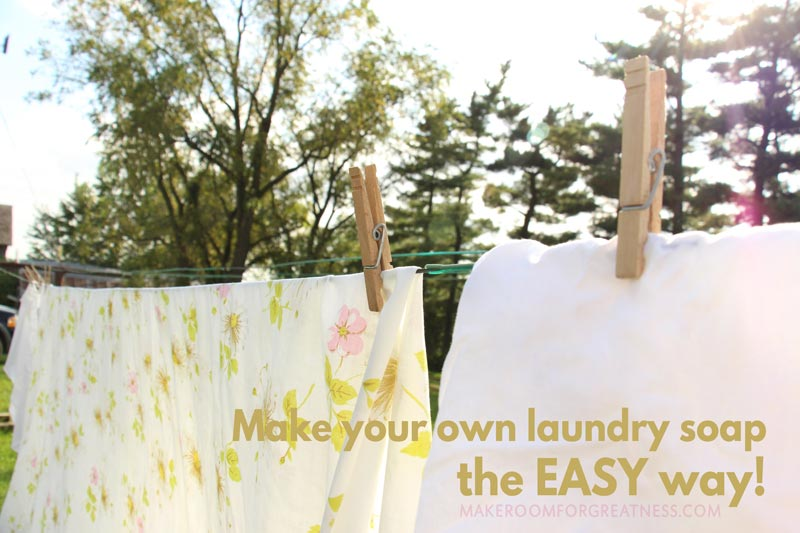 how to make your own laundry soap the easy way - just add water! | MyGreenFills, green laundry, simplify laundry, non-toxic