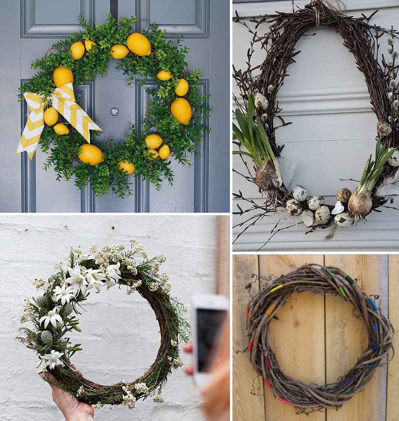 minimalist holiday decor - good base items as part of your regular decor that you can just customize for each holiday or season | nature decor, summer wreath, summer decor