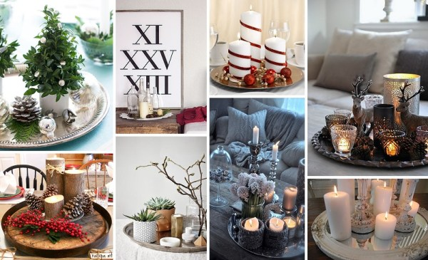 minimalist holiday decor - good base items as part of your regular decor that you can just customize for each holiday or season | winter decor, christmas decor, candles