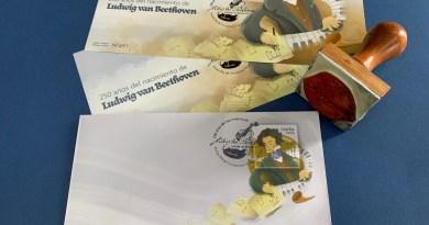 Filatelia costarricense celebra los 250 años del nacimiento de Ludwing van Beethoven