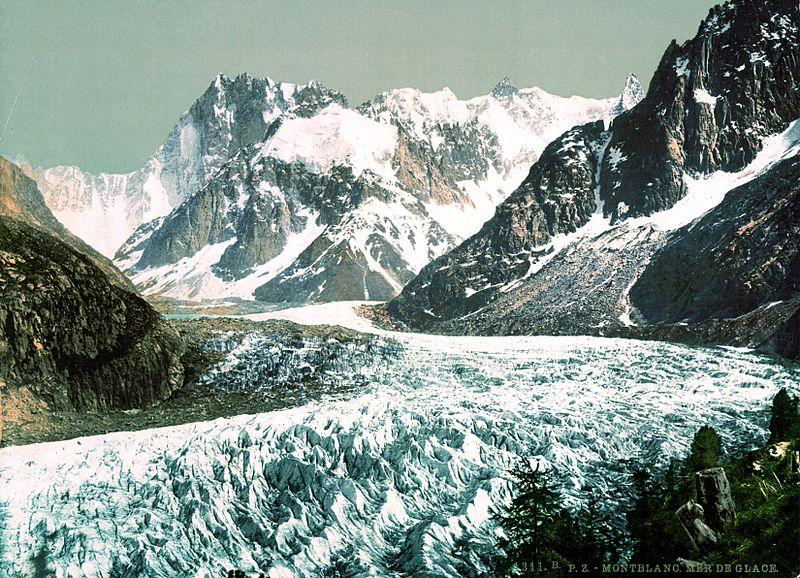 la mer de glace entre 1890 et 1900