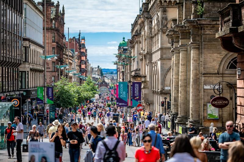 touristes ville de Glasgow
