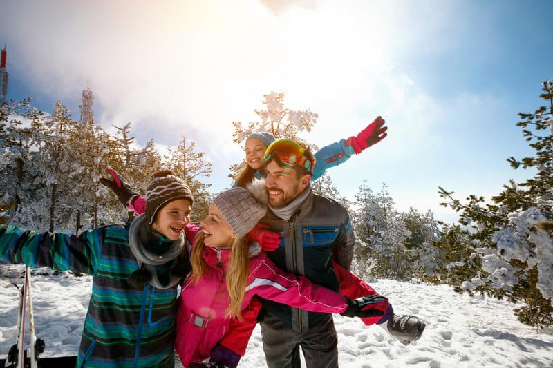famille ski heureux - trip photo