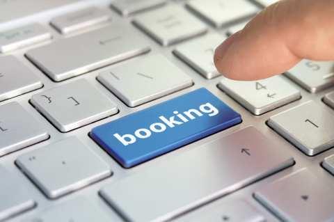 Clavier touche booking hôtel