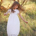 Baptism Dress, 8 year old Photo Shoot, and a Beautiful Girl