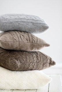 Sweater Pillows, Repurpose