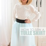 Tulle Skirt with a Wide Elastic Waistband (Version #2)