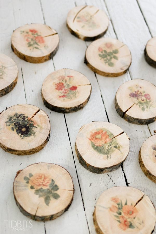 Botanical-wood-slices