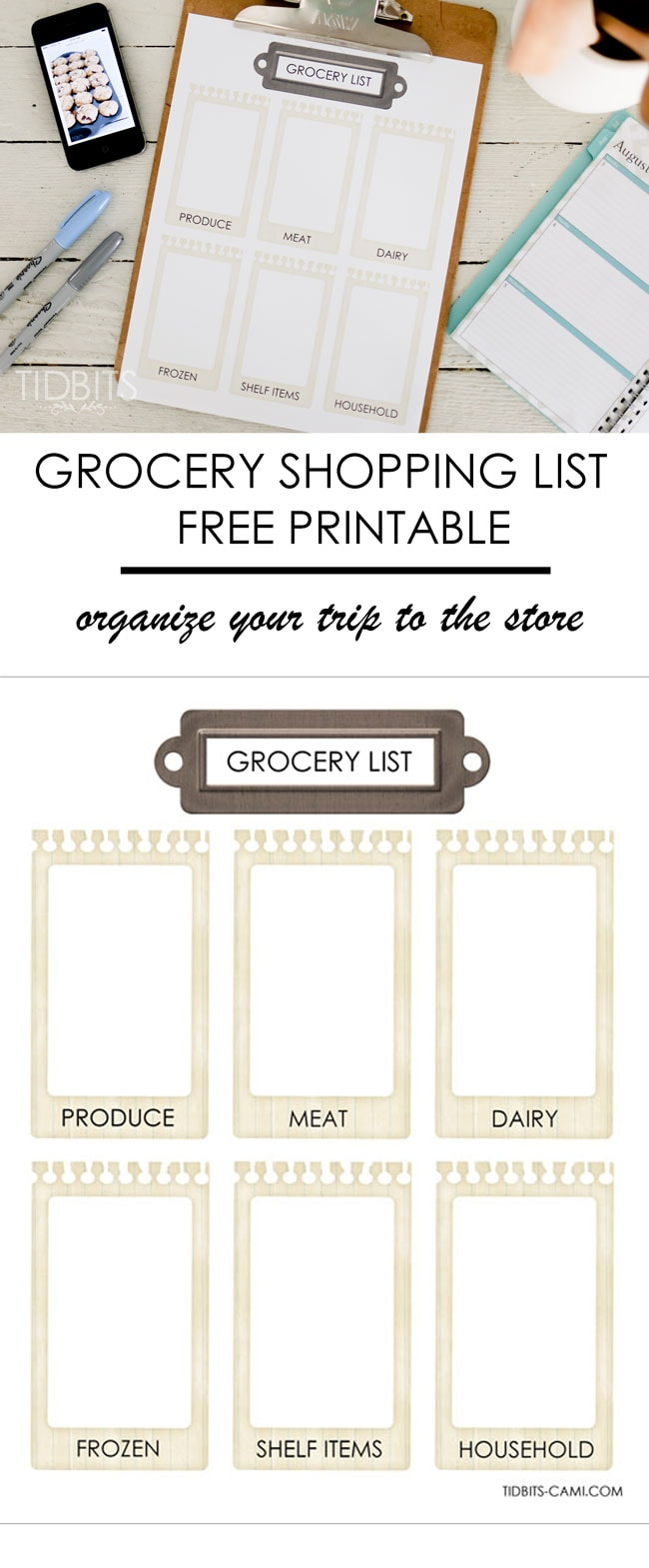 grocery store list