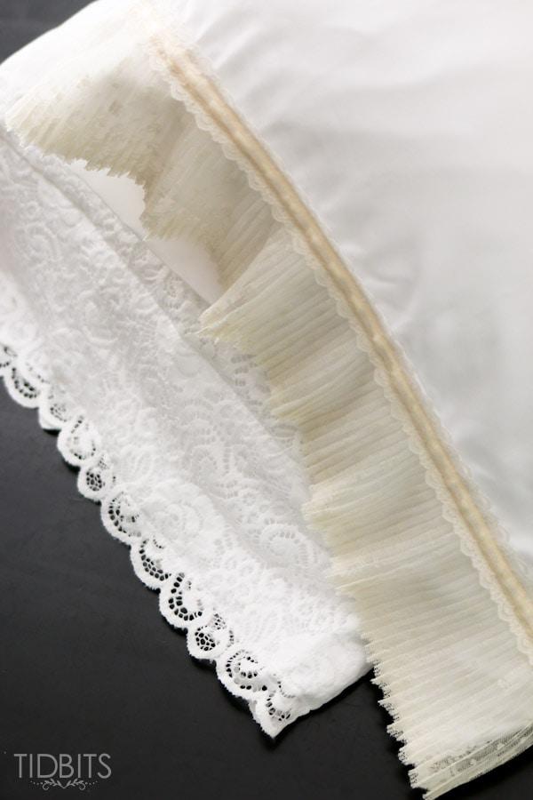 Diy Lace Pillowcase: DIY Lace Pillowcase   Tidbits,