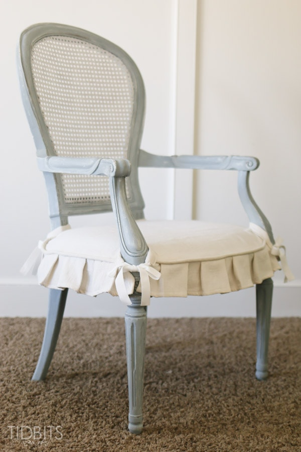 Thrift Store Chair Makeover | French Country Style - TIDBITS