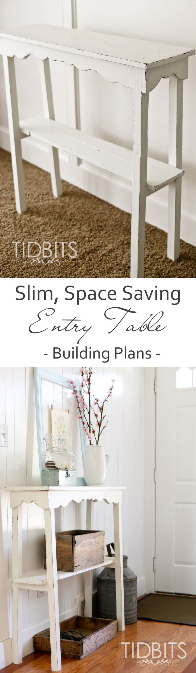 Super Slim, Space Saving Entry Table Building Plans. Perfect For Small  Areas And To