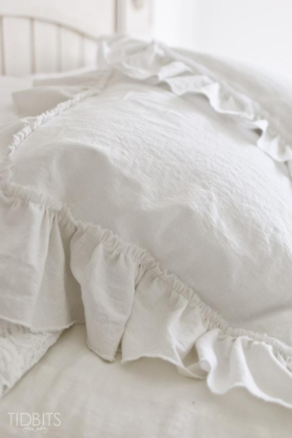 ruffle pillow sham tutorial tidbits
