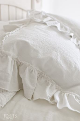 Ruffle Pillow Sham Tutorial