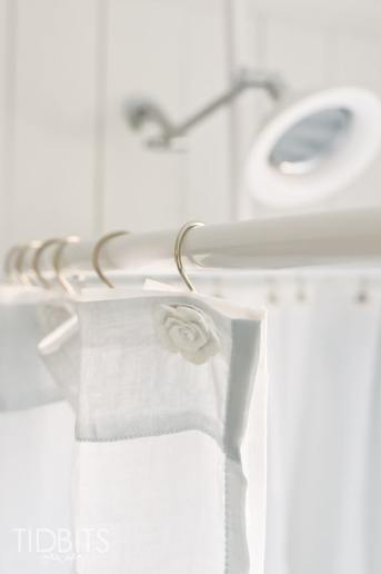 How to Make a Window Curtain Work for a Shower Curtain