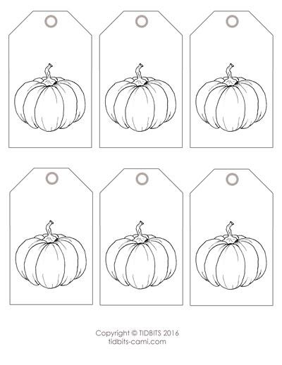Pumpkin Tag Printable