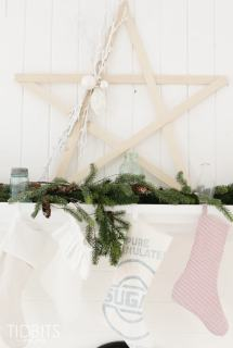 Large Stick Star Tutorial and Christmas Mantel