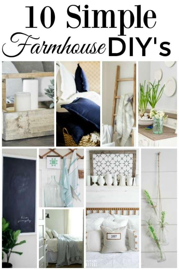 10 Simple Farmhouse DIY's