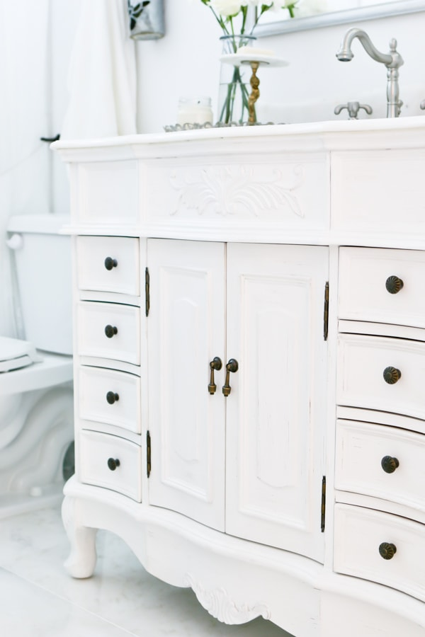 French Cottage Bathroom Reveal by TIDBITS