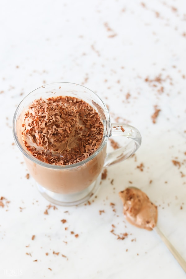 Frozen Crio Bru - a low calorie frosty chocolate drink.
