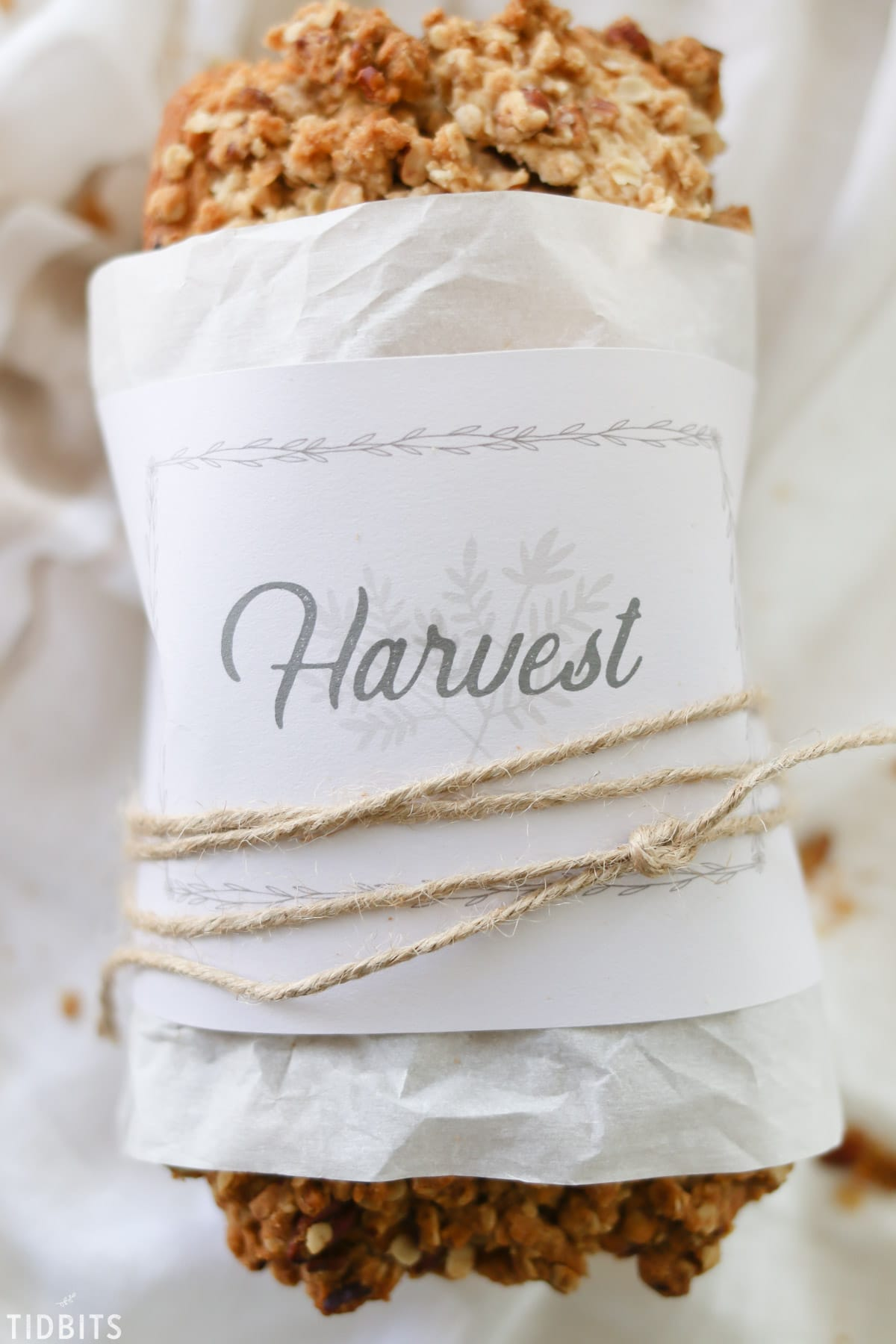 Bread Wrap Free Printable. Perfect for Fall baking and gifting!