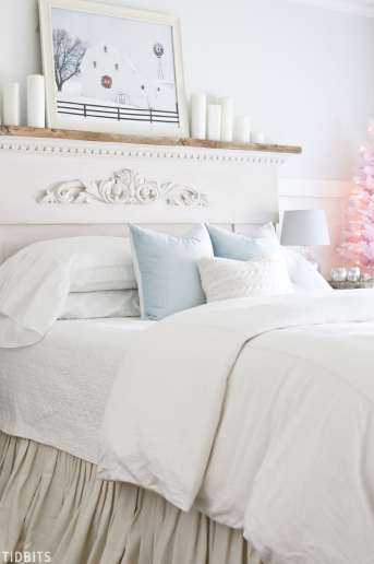 A Colorful Christmas Master Bedroom