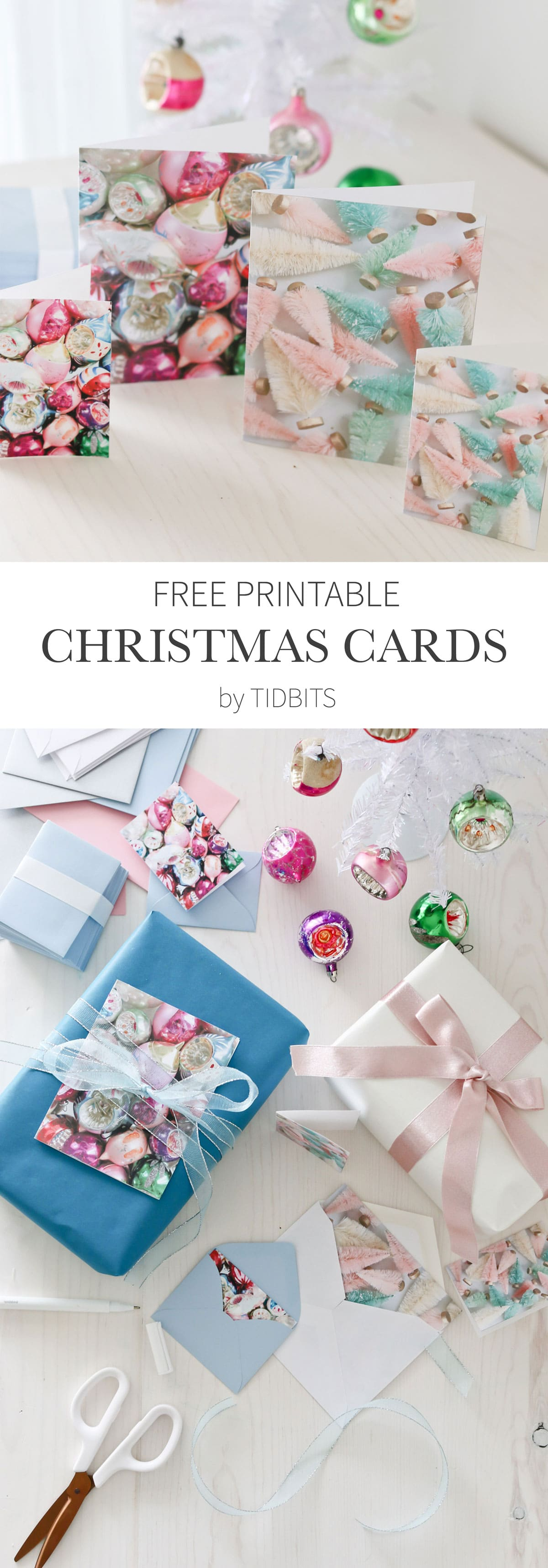 Free Printable Colorful Christmas Cards by TIDBITS