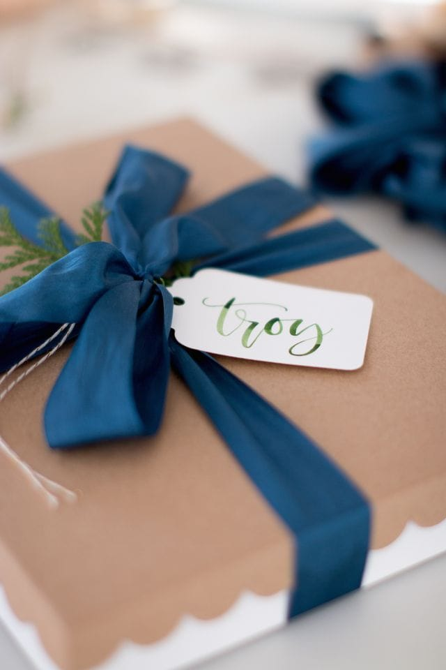 Blue Christmas package