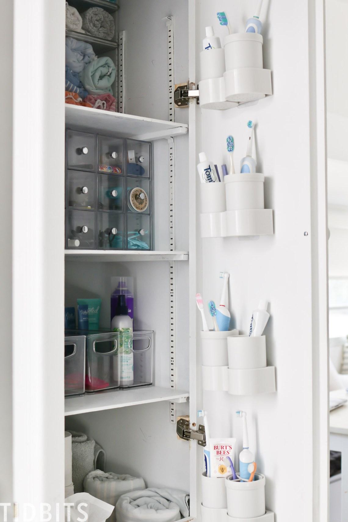 Toothbrush Organization In Rv Bathroom