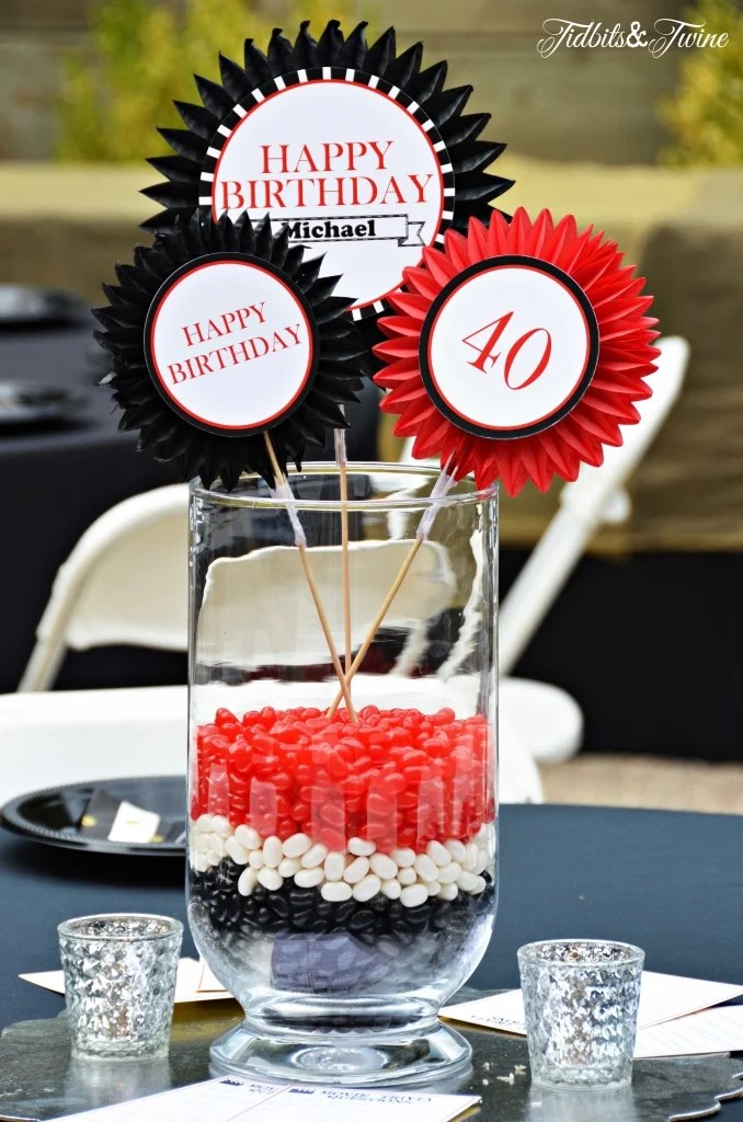 Table Decoration Ideas 40th Birthday Party