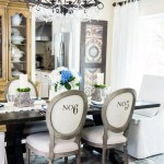 French Dining Room Update With Velvet Slipcovered Chairs Tidbits Twine