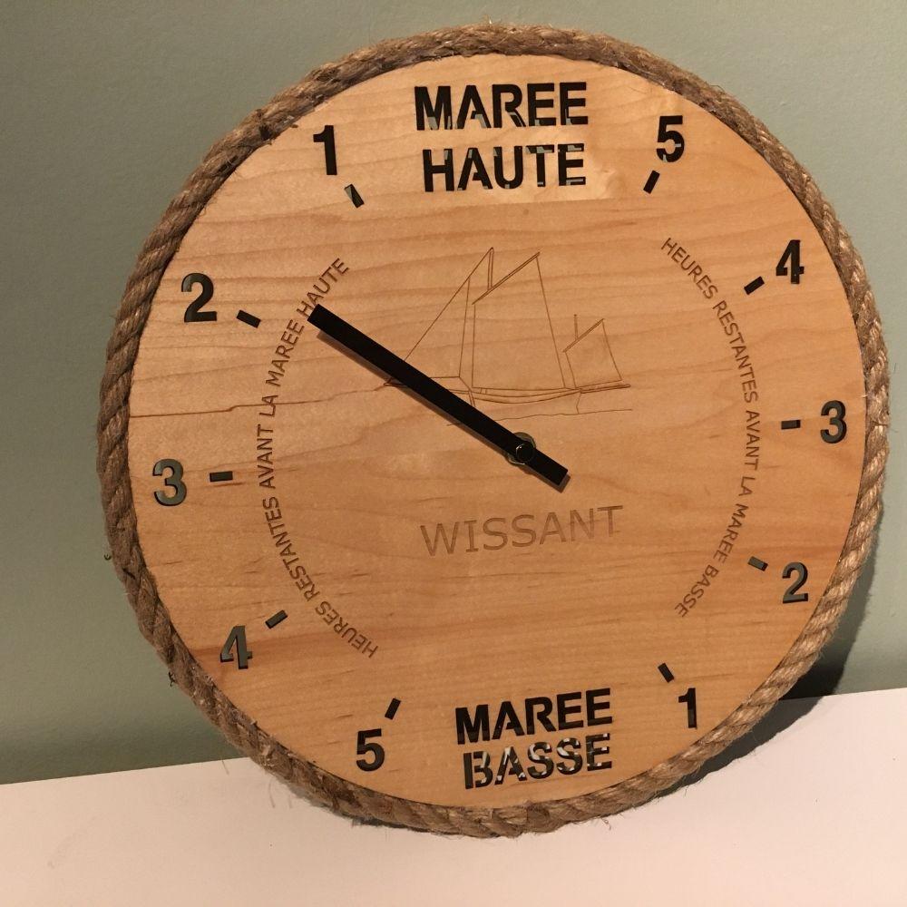 """Horloge des marées """"effet mer"""" - Wissant et son flobart"""
