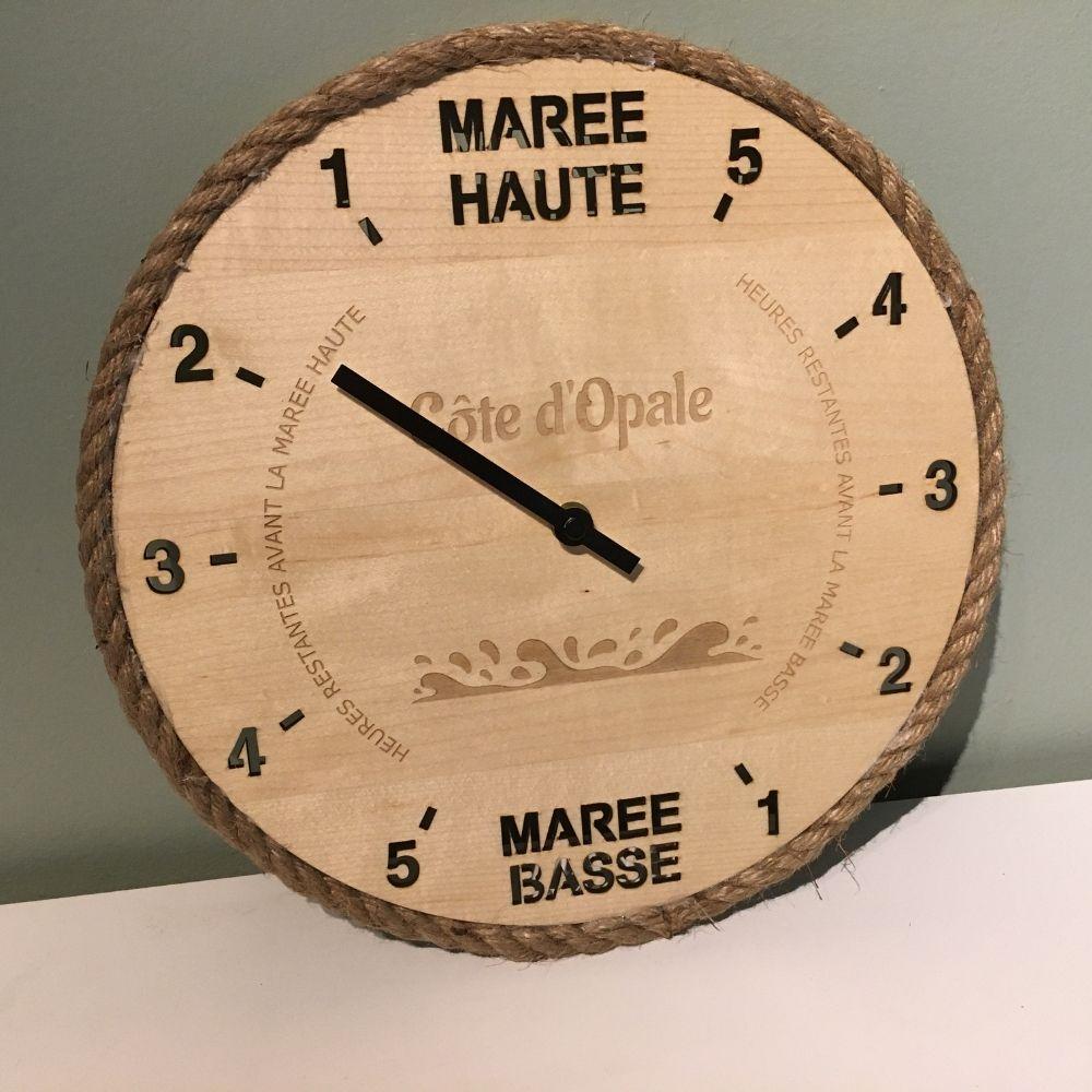 """Horloge des marées """"effet mer"""" - Côte d'Opale"""