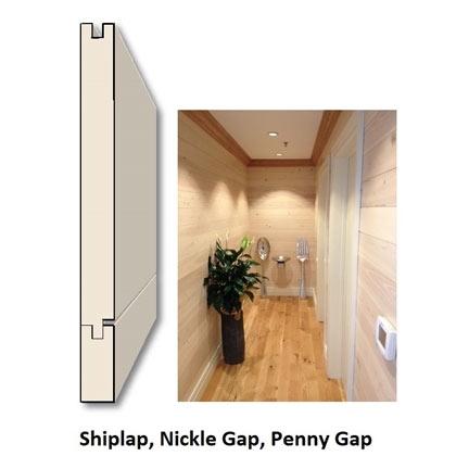 Shiplap Nickel Groove Penny Groove Tidewater Lumber