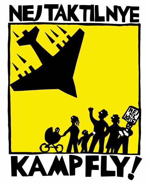 Nej tak til nye kampfly! Logo af Thomas Kruse