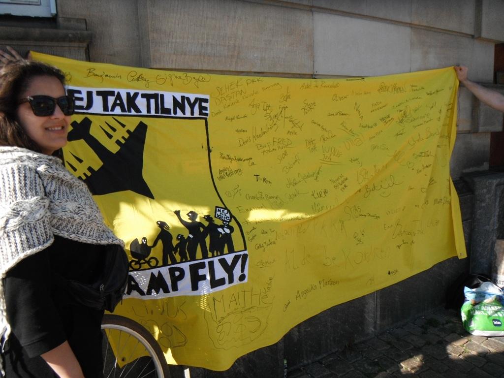 Nej tak til nye Kampfly Foto: TTF - aktiv mod krig