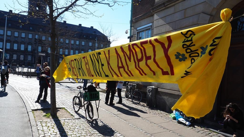 Nej tak til nye Kampfly Foto: Jan Henningsen