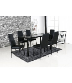ensemble table 6 chaises labo tidy home
