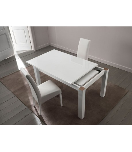 table laquee blanche extensible tidy home