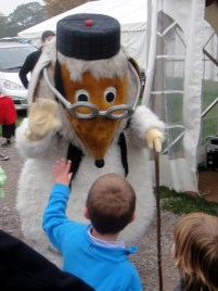 Uncle Bulgaria waves at a boy