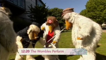 The Wombles collecting litter on This Morning